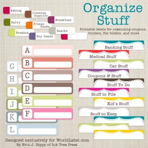 Buy Blank File Folder Labels, File Cabinet Labels