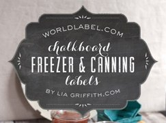 Chalkboard Canning & Freezer Labels by Lia Griffith