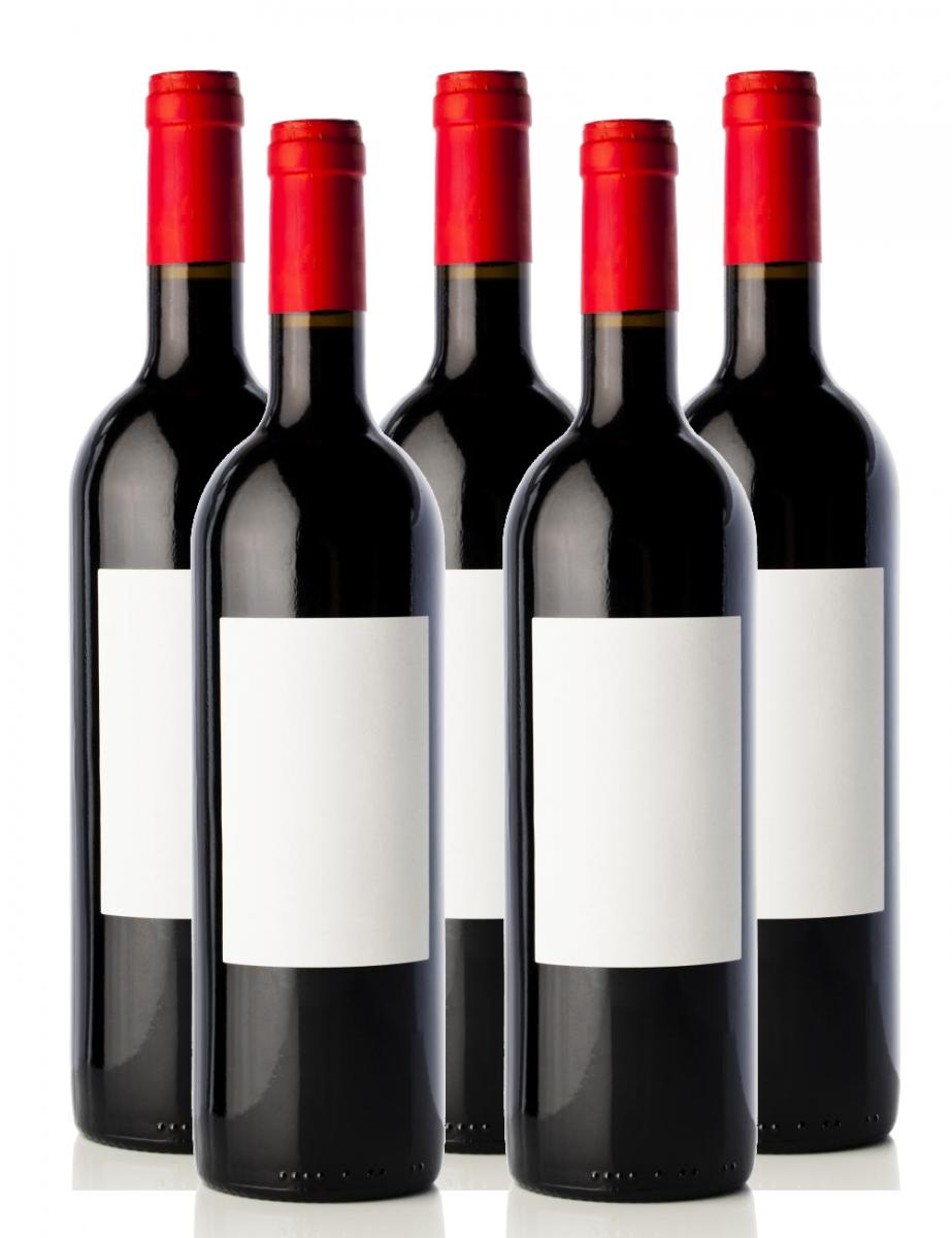 Bottle labels for water bottles, wine bottles, blank for