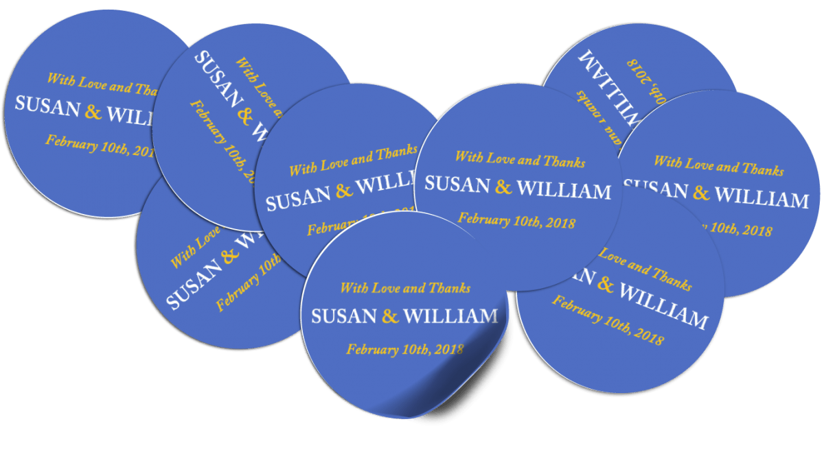 Designing Round & Oval Labels with Word Within Word Label Template 12 Per Sheet