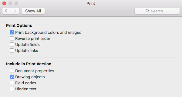 In The Output And Sharing Section Click On Print Icon When Preferences Appear Empty Checkbox Beside Background Colors