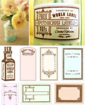 graphic regarding Free Printable Apothecary Jar Labels identified as Common Themed labels