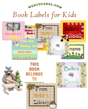 picture relating to Free Printable Book Labels referred to as Youngsters, College or university Trainer Labels