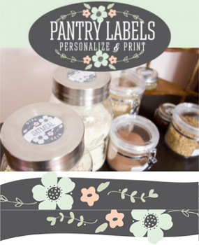 kitchen labels and pantry labels