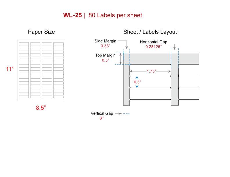 return address label  avery u00ae 5167  8167 size laser