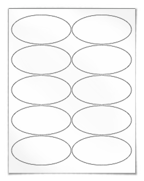 picture about Oval Printable Labels named Invest in blank oval labels for laser and inkjet printers Worldlabel