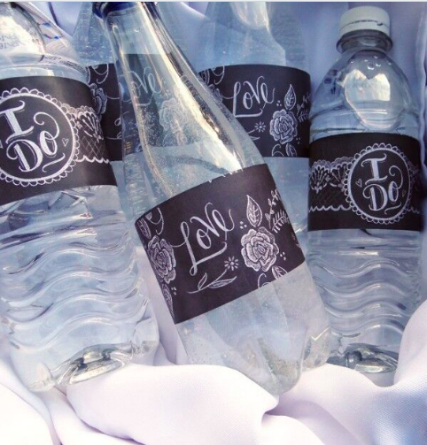 Water Bottle Labels - 8 oz water bottle label template free