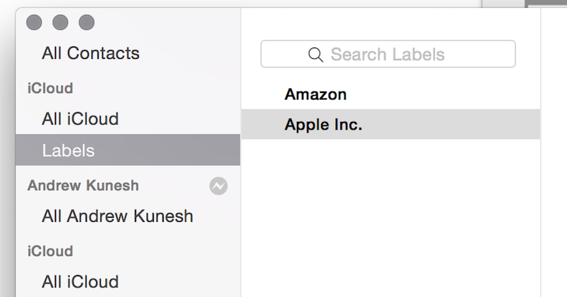 Using Contacts with Mac (OS X) To Print Address Labels