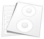 Adhesive Media labels including CD, DVD, Cassette, vhs labels and more.