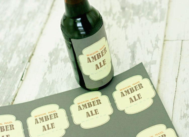 graphic about Printable Beer Bottle Labels titled Beer Bottle Labels Worldlabel