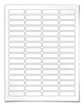 printed return address label