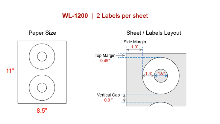 all about cd labels our wl1200 same size avery 5824 cd template