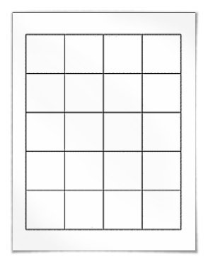 Square labels 1 8 x 1 8 on sheets for laser and inkjet for Label template 65 per sheet