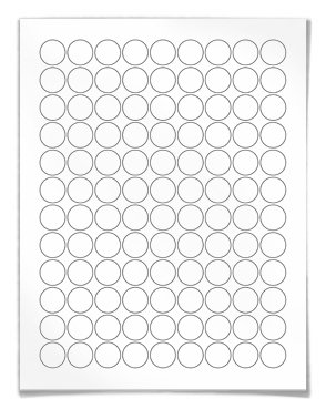 Round Labels (Circular) For Laser And Inkjet Printers