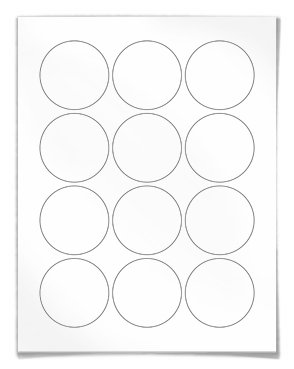 Round labels circular for laser and inkjet printers for 1 inch circle template free